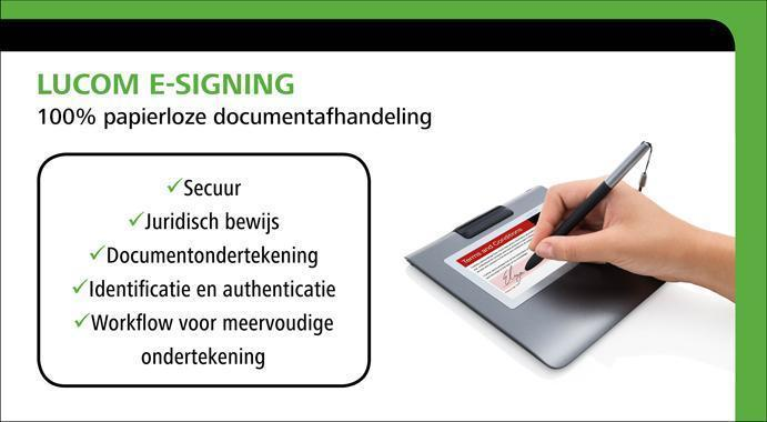 Beeld Lucom E signing