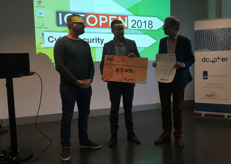 Winners Dutch Cyber Security Best Research Paper Award and Best Cyber Security Master Thesis Award Announced