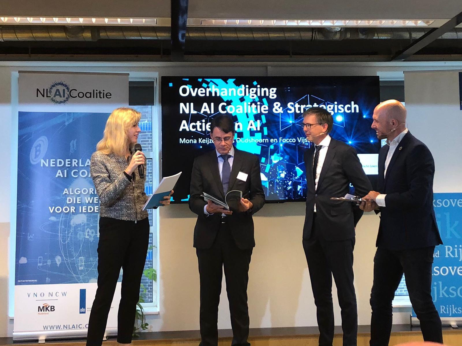 Launch Dutch Strategic Action Plan for AI and AI Coalition