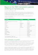 Report: ITEA International Customer Workshop on Cybersecurity